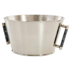 Valle Large Silver Alpaca & Black Onyx Stone Bar Champagne Bucket