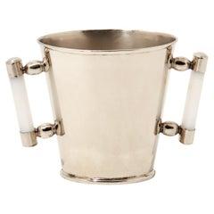 Valle Silver Alpaca & Cream Onyx Stone Ice Bucket