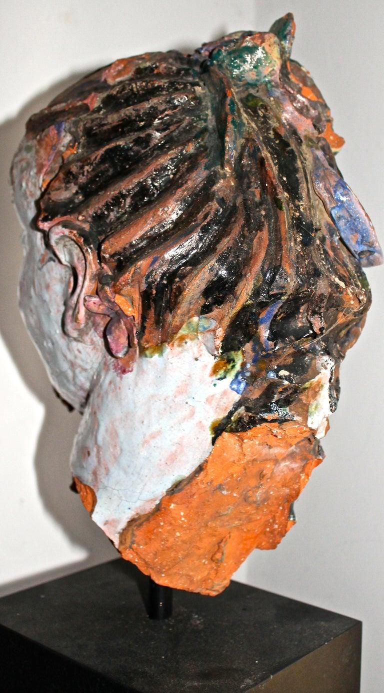 Vally Wieselthier Important Ceramic Head, & Hand from Wiener Werkstätte Showroom For Sale 4