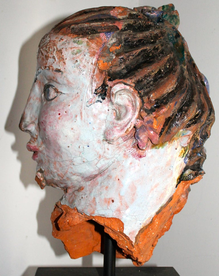 Vally Wieselthier Important Ceramic Head, & Hand from Wiener Werkstätte Showroom For Sale 5