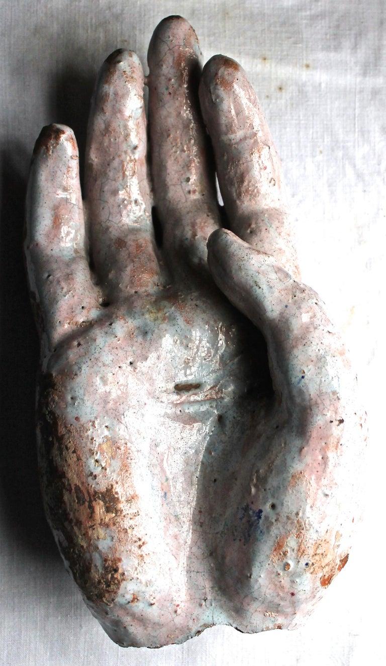 Vally Wieselthier Important Ceramic Head, & Hand from Wiener Werkstätte Showroom For Sale 9