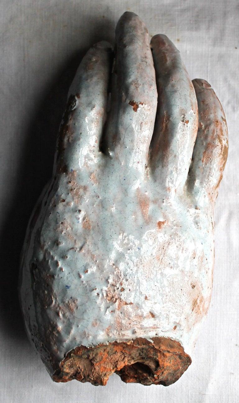 Vally Wieselthier Important Ceramic Head, & Hand from Wiener Werkstätte Showroom For Sale 10