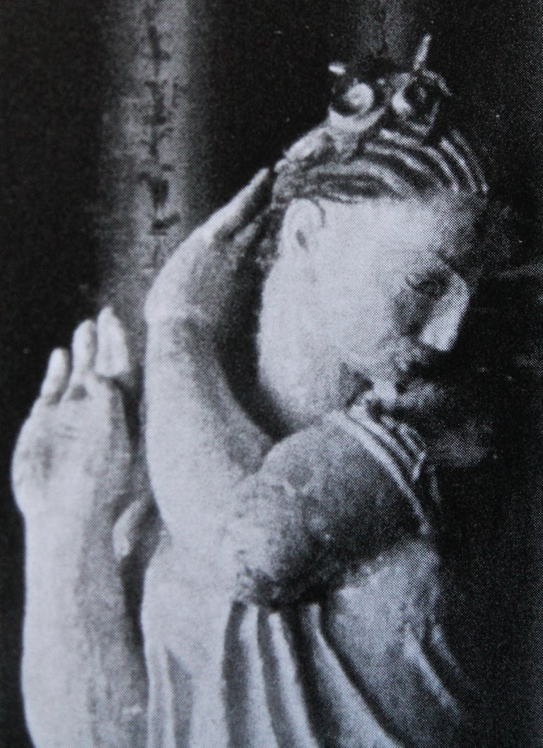 Vienna Secession Vally Wieselthier Important Ceramic Head, & Hand from Wiener Werkstätte Showroom For Sale