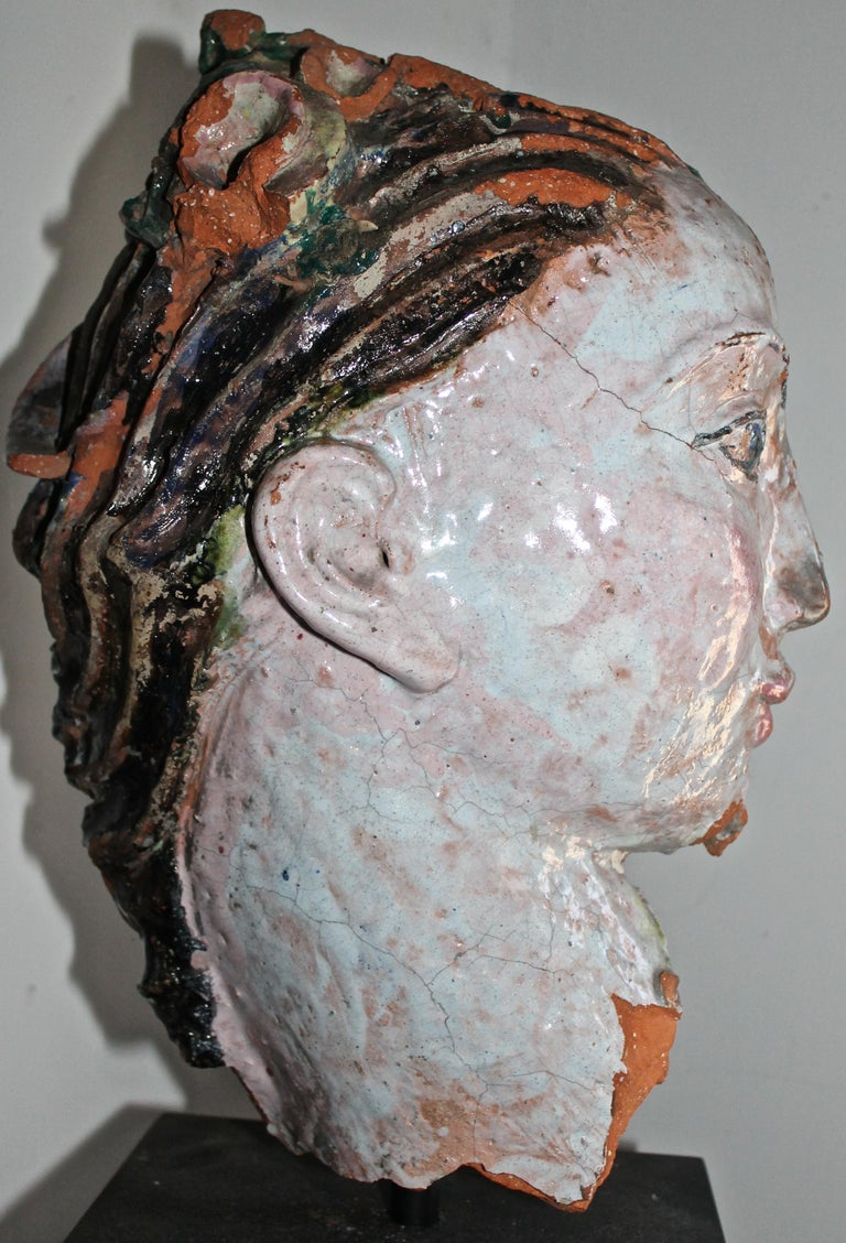 Vally Wieselthier Important Ceramic Head, & Hand from Wiener Werkstätte Showroom For Sale 1
