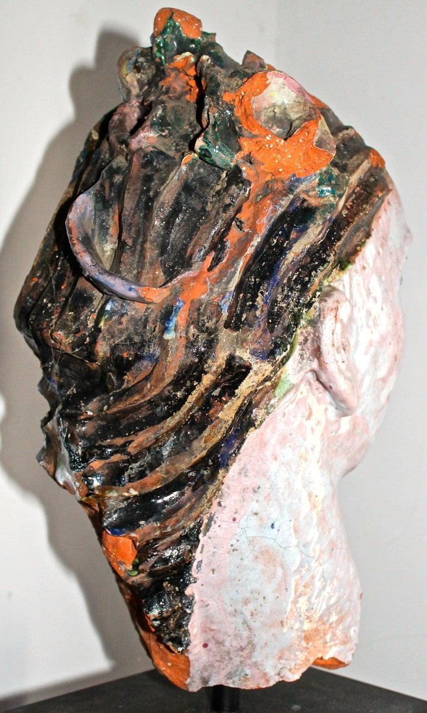 Vally Wieselthier Important Ceramic Head, & Hand from Wiener Werkstätte Showroom For Sale 2