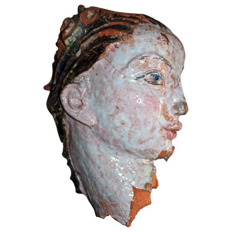 Vally Wieselthier Important Ceramic Head, & Hand from Wiener Werkstätte Showroom For Sale