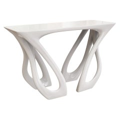 Valora Console Table - Organic Fluid Furniture Art by Michael Sean Stolworthy