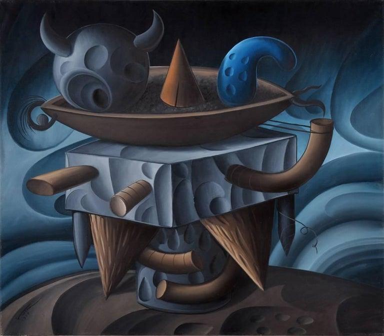 Valton Tyler Still-Life Painting - Black Smith Anger