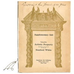 Valuable Artistic Property Belonging to the Estate of the Late Stanford White