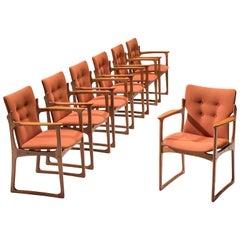 Vamdrup Stolefabrik Set of Seven Teak Armchairs
