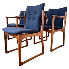Vamdrup Stolefabrik Vintage Set of 4 Teak Dining Chairs