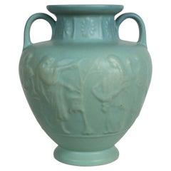 Van Briggle Turquoise Ming Glaze Grecian Urn or Vase Signed D.R.