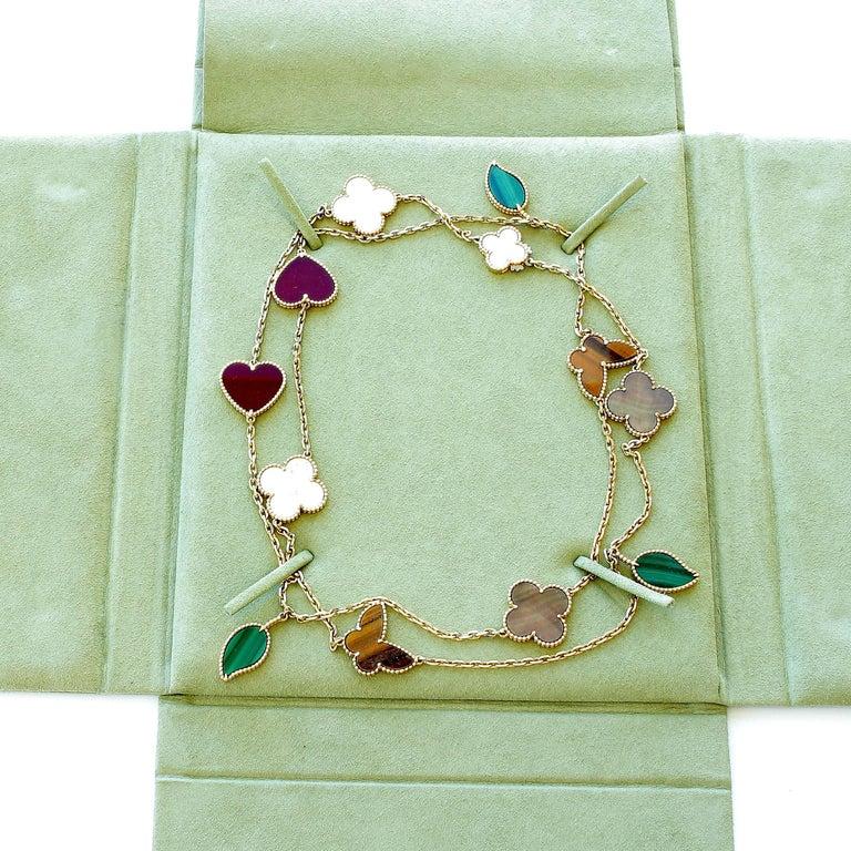 Van Cleef Lucky Alhambra Necklace: Van Cleef And Arpels 12 Motif Lucky Alhambra Gold Necklace
