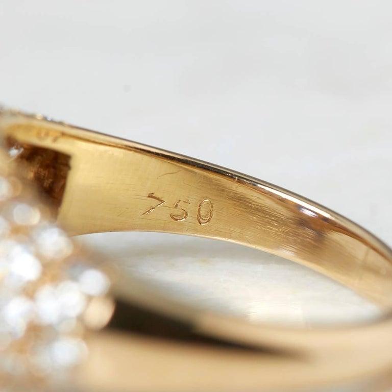 Van Cleef & Arpels 18 Karat Yellow Gold Certified Ceylon Sapphire Diamond Ring For Sale 1