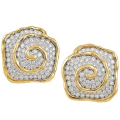 Van Cleef & Arpels Diamond Earclips