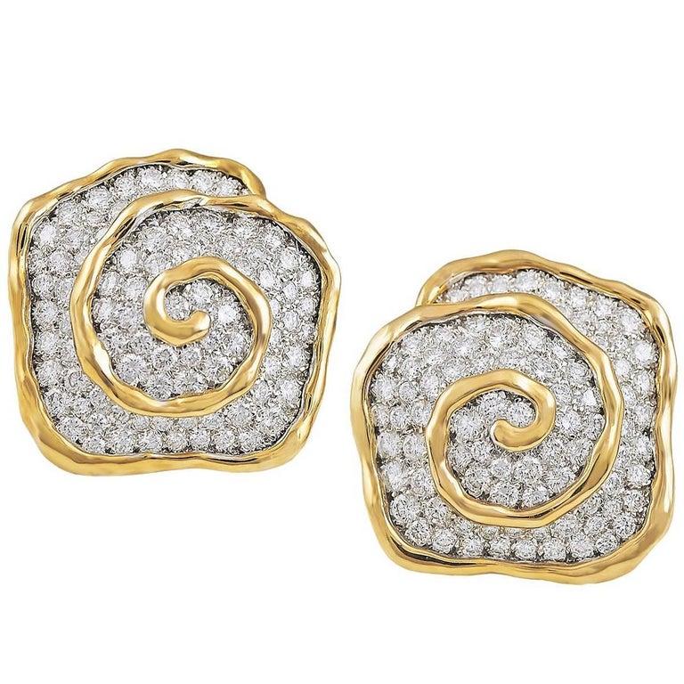 Van Cleef & Arpels Diamond Earclips