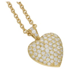Van Cleef & Arpels Diamond Gold Heart Necklace