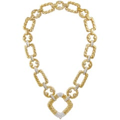 Van Cleef & Arpels Diamond Link Necklace