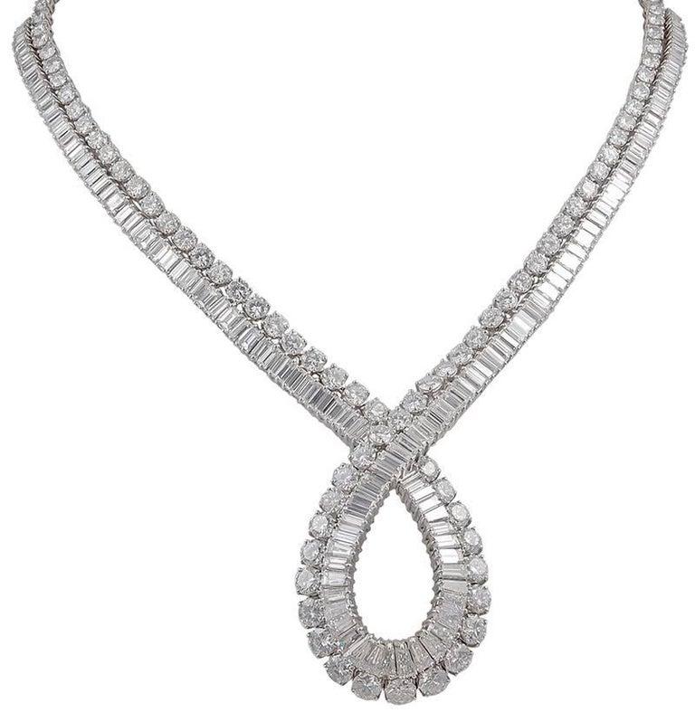 Van Cleef & Arpels Diamond Loop Necklace