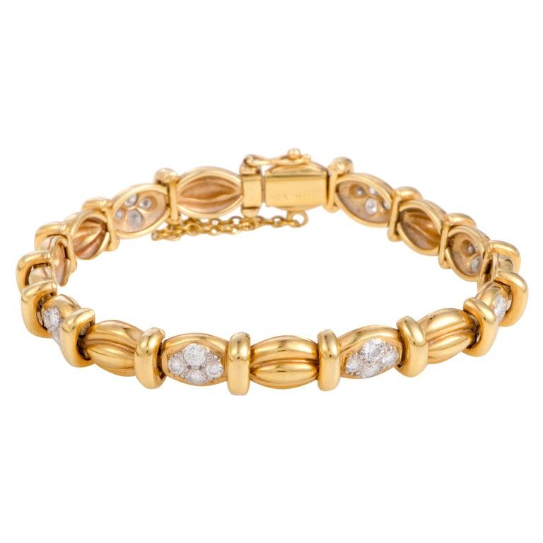 Van Cleef & Arpels Diamond Pave Yellow Gold Bracelet