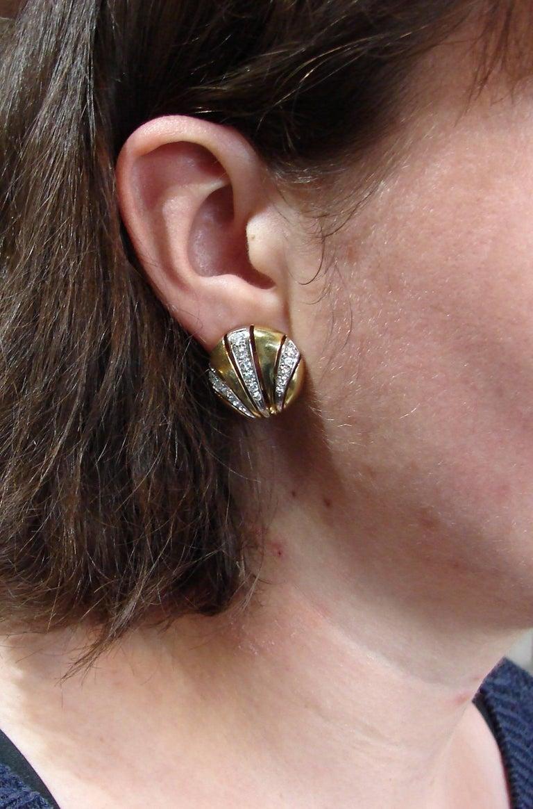Van Cleef & Arpels Diamond Yellow Gold Earrings For Sale 5