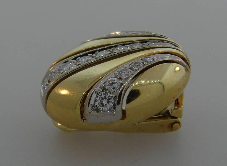 Women's Van Cleef & Arpels Diamond Yellow Gold Earrings For Sale