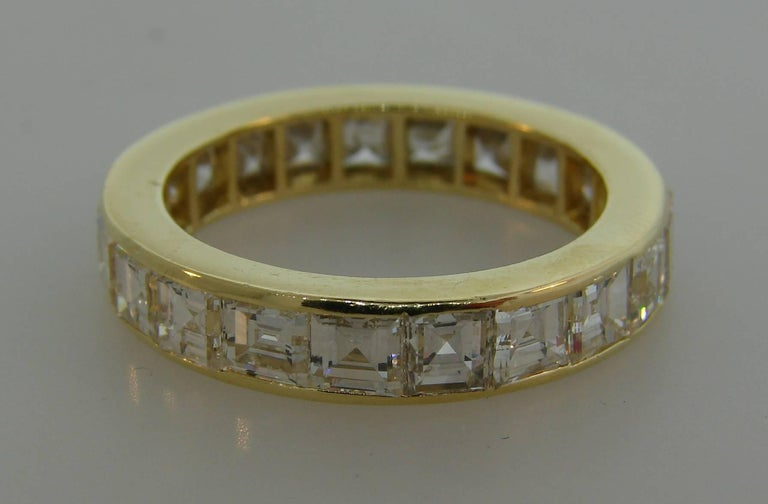 Women's Van Cleef & Arpels Diamond Yellow Gold Eternity Band Ring VCA For Sale