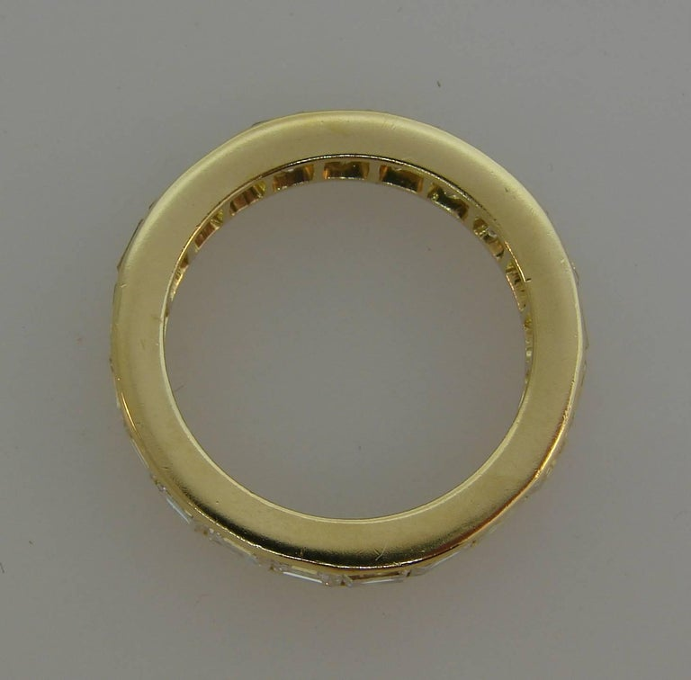 Van Cleef & Arpels Diamond Yellow Gold Eternity Band Ring VCA For Sale 1