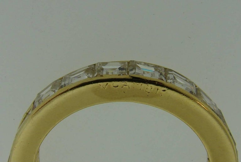 Van Cleef & Arpels Diamond Yellow Gold Eternity Band Ring VCA For Sale 2