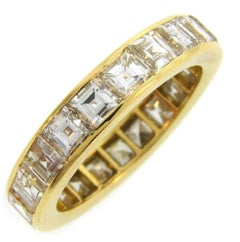 Van Cleef & Arpels Diamond Yellow Gold Eternity Band Ring VCA