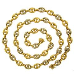 Van Cleef & Arpels Gold Nautical Link Chain Necklace
