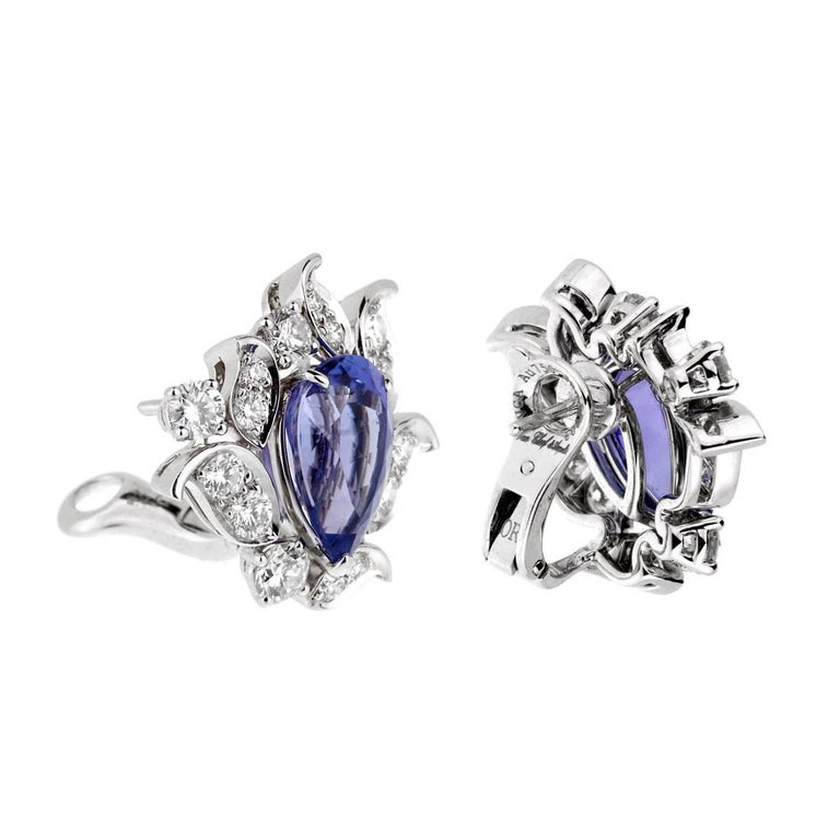 Van Cleef & Arpels Les Jardins Tanzanite Diamond Suite For Sale 5
