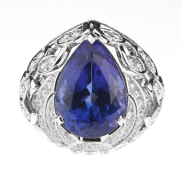 Round Cut Van Cleef & Arpels Les Jardins Tanzanite Diamond Suite For Sale