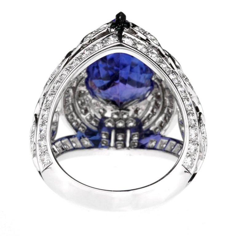 Women's or Men's Van Cleef & Arpels Les Jardins Tanzanite Diamond Suite For Sale