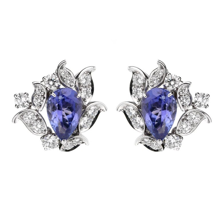 Van Cleef & Arpels Les Jardins Tanzanite Diamond Suite For Sale 3