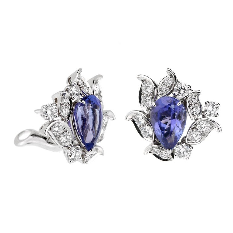 Van Cleef & Arpels Les Jardins Tanzanite Diamond Suite For Sale 4
