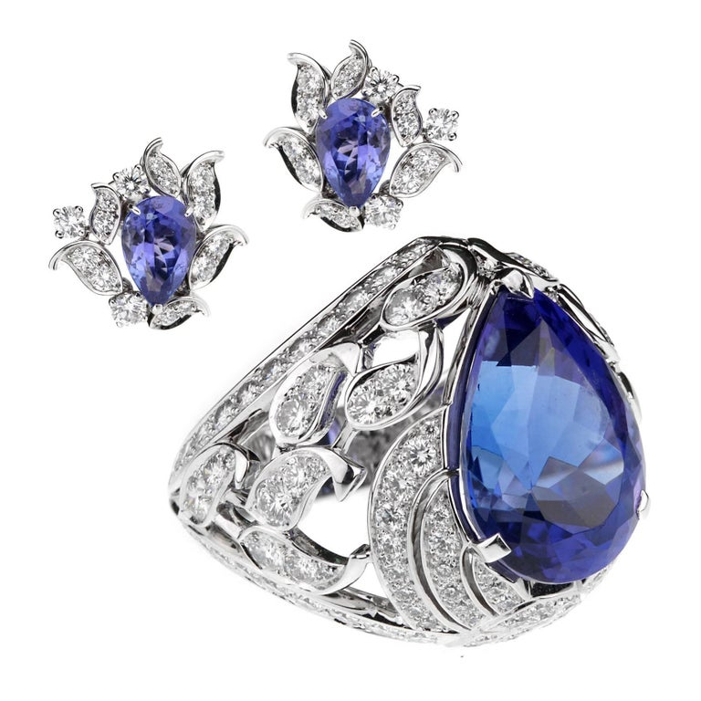 Van Cleef & Arpels Les Jardins Tanzanite Diamond Suite For Sale