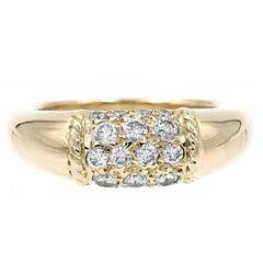Van Cleef & Arpels Philippine Diamond Dome Yellow Gold Ring