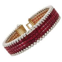 Van Cleef & Arpels Ruby Mystery-Set Bracelets