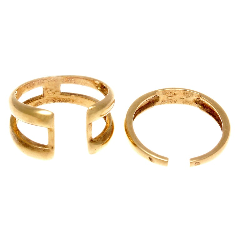 Van Cleef & Arpels Two-Part Gold Ring