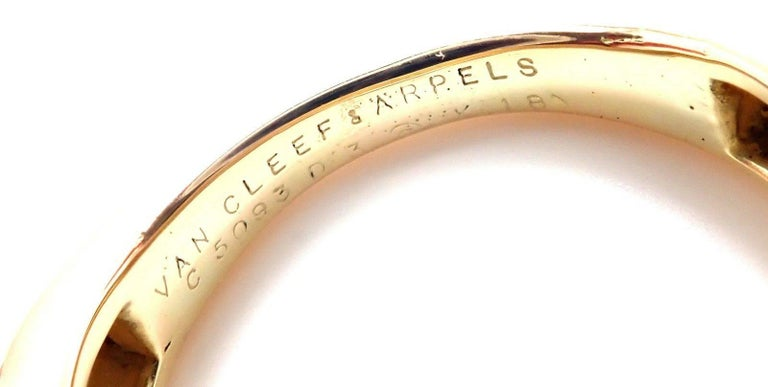 Van Cleef & Arpels Vintage Enamel Yellow Gold Band Ring In New Condition For Sale In Southampton, PA