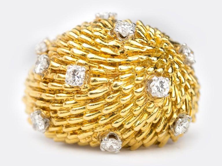 A pair of 18k Diamond Dome Earrings by Van Cleef and Arpels.