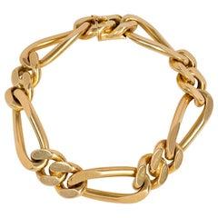 Van Cleef & Arpels 1970s Gold Cuban Link Bracelet