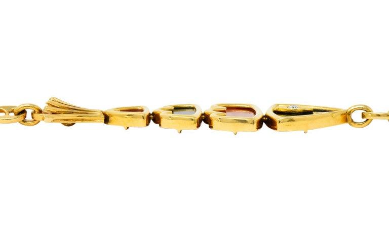 Van Cleef & Arpels Coral Black Onyx 18 Karat Gold Articulated Fish Bracelet For Sale 6