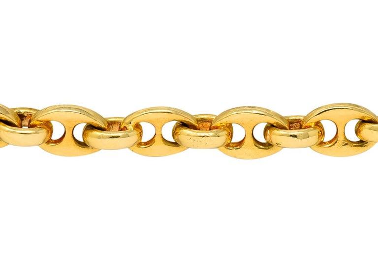 Van Cleef & Arpels Coral Black Onyx 18 Karat Gold Articulated Fish Bracelet For Sale 3