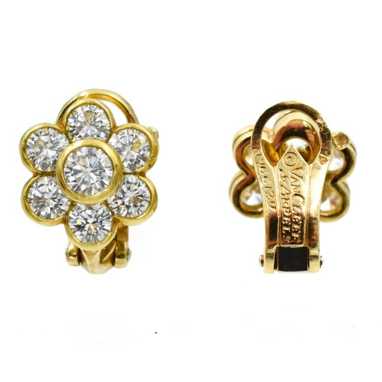 Women's Van Cleef & Arpels Diamond Cluster Earrings