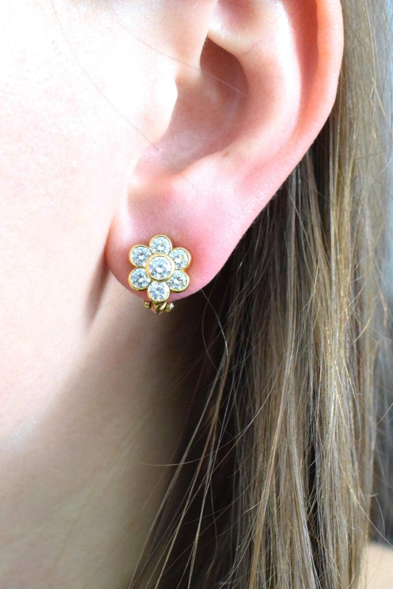 Van Cleef & Arpels Diamond Cluster Earrings 1