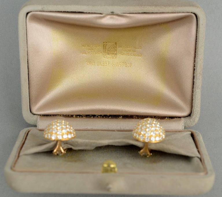 Van Cleef and Arpels pear shaped diamond earrings that are the ultimate in elegant simplicity. The earrings are made of 154 diamonds with a total  weight of approximately 7 carats. The stones are E and F color; VVS1 quality. Backs are clips and