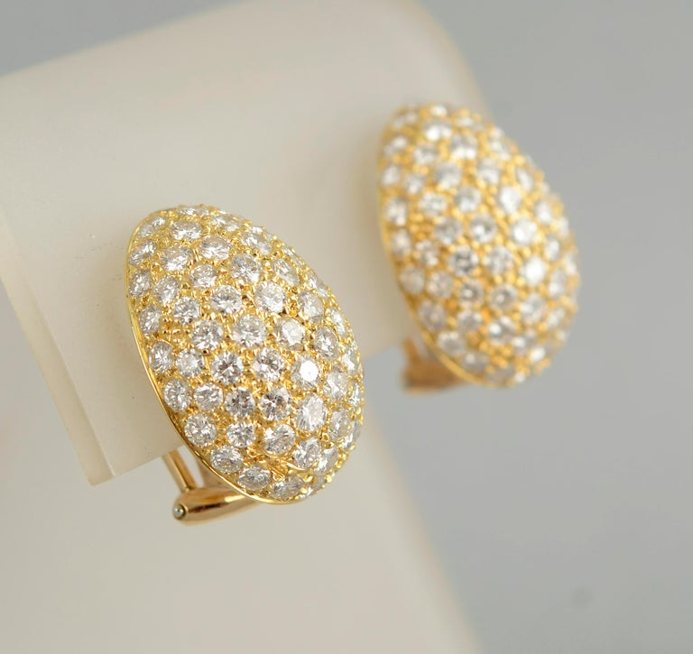Van Cleef & Arpels Diamond Earrings In Excellent Condition For Sale In Darnestown, MD