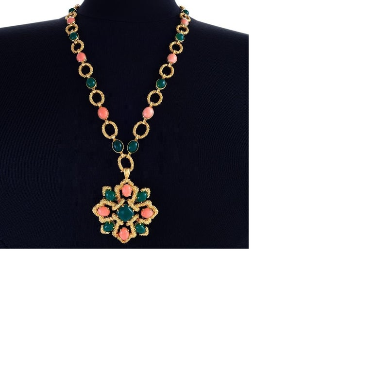 Van Cleef and Arpels Gold, Coral and Chrysoprase